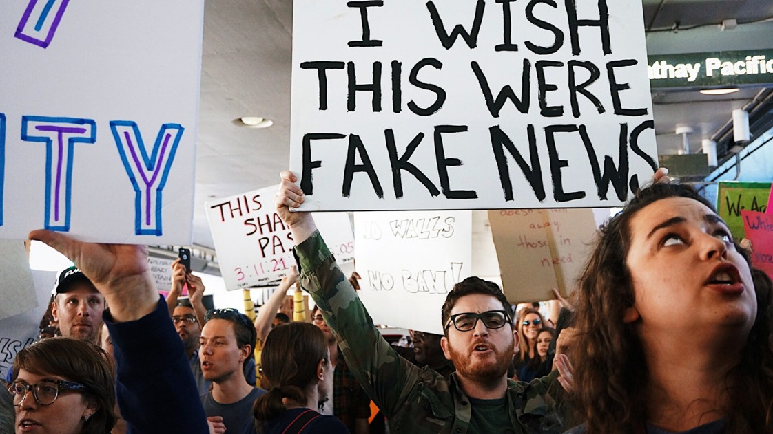 A fake news protest