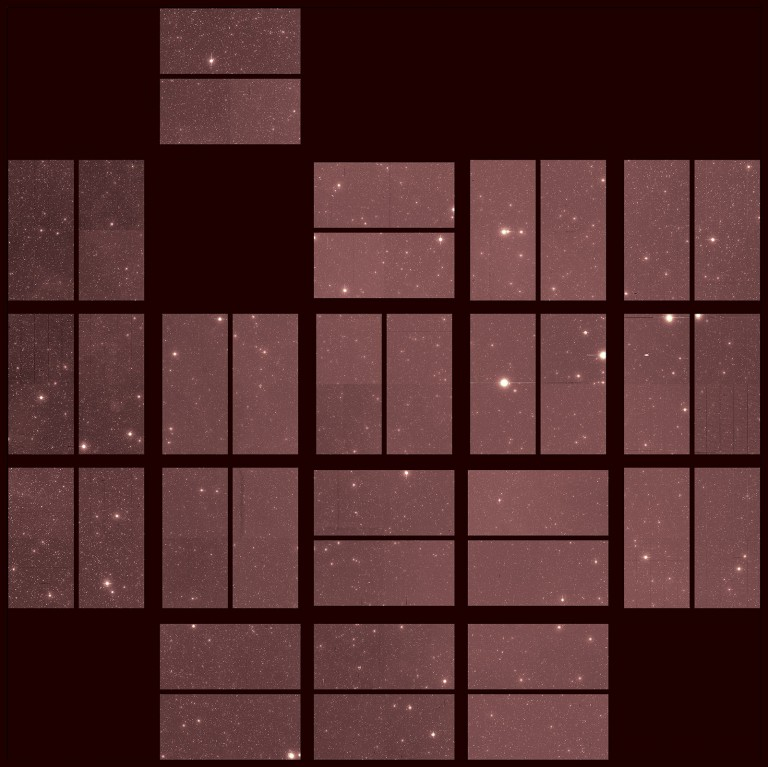 The last image taken by Kepler of space.