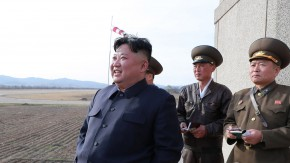 North Korean leader Kim Jong Un inspects fighter combat readiness of Unit 1017 of the Air and Anti-aircraft Force of the Korean People's Army, in an unknown location in North Korea.