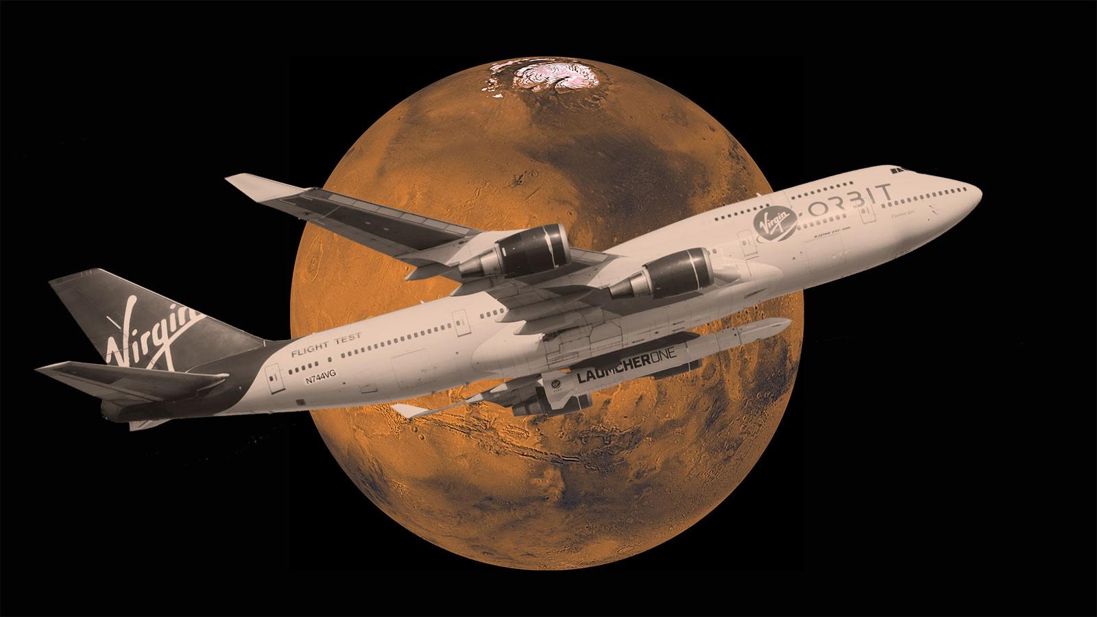 Virgin Orbit says it wants to send tiny spacecraft to Mars in 2022