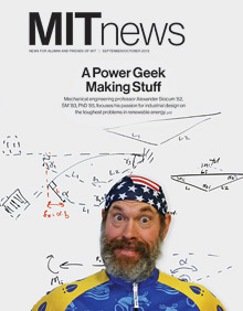 Alexander Slocum on MIT News magazine cover