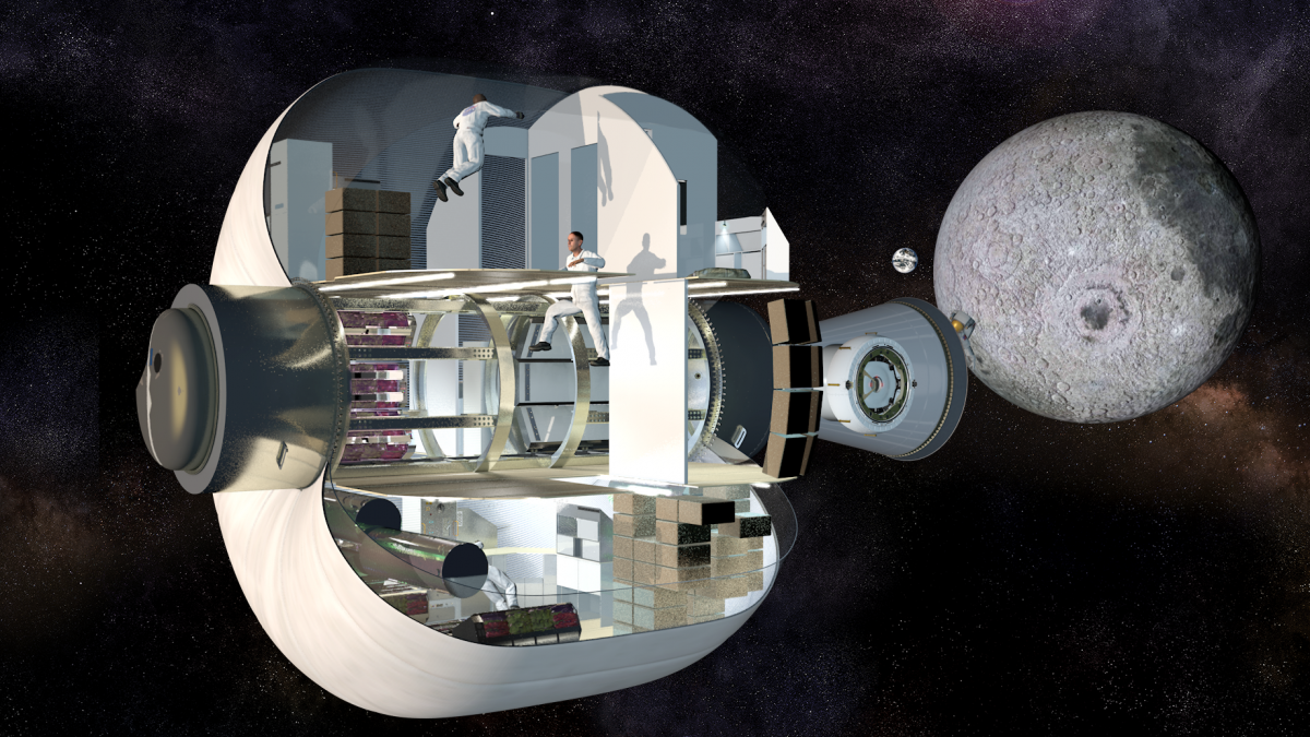 This inflatable space home could give future astronauts room to stretch out