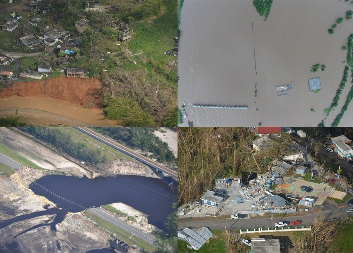 Images of disaster from the MIT Lincoln Lab data set.