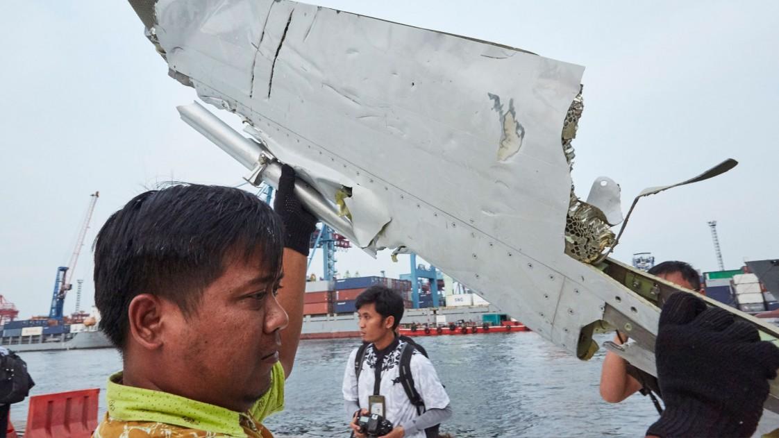 pieces of Lion Air plane