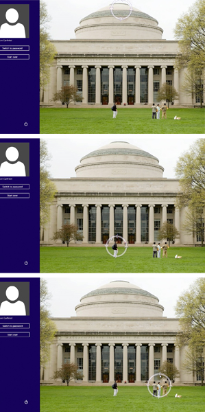 Photo ID log-in, photo of MIT