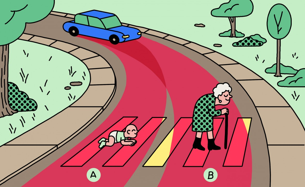 Should a self-driving car kill the baby or the grandma - Forward Leading