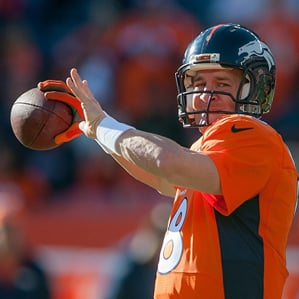 Quarterback Peyton Manning of the Denver Broncos