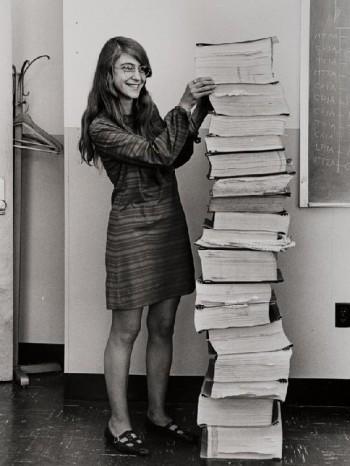 Hamilton with Apollo code, 1969.
