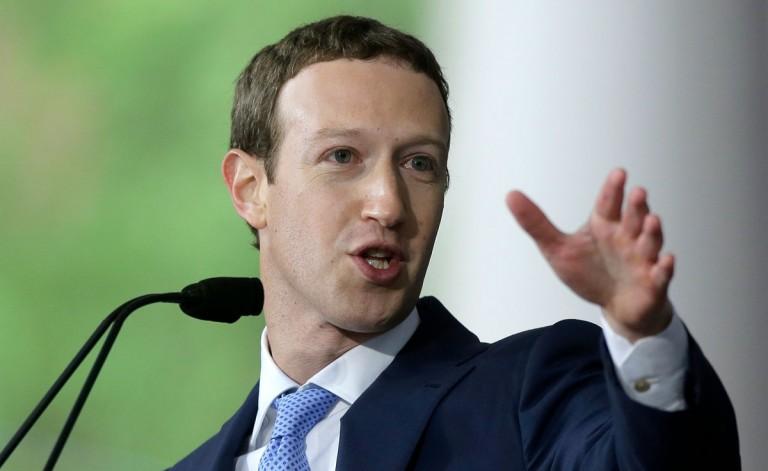 Mark Zuckerberg addressing an audience