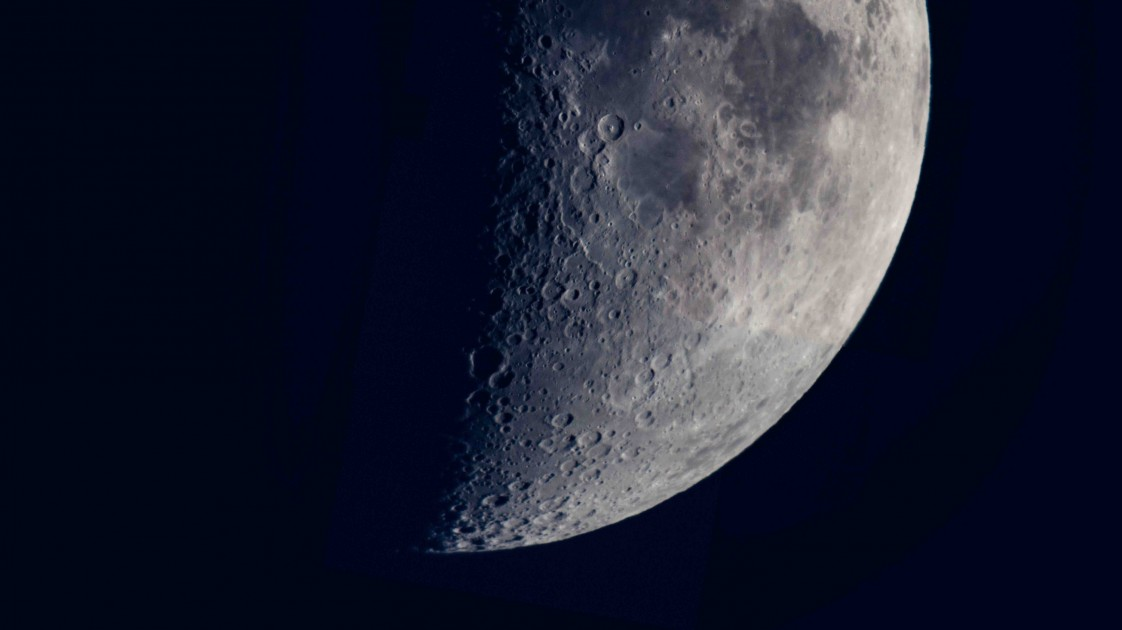 15-image collage of our Moon