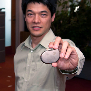 an implantable pacemaker
