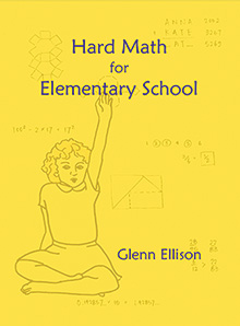 book cover, Hard Math for Elementary School