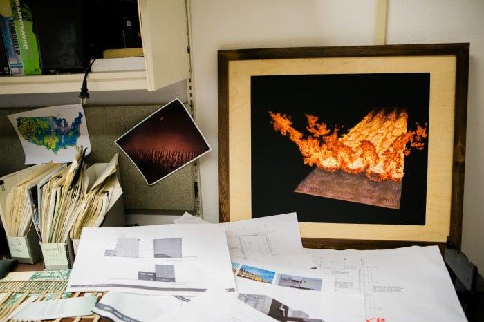 photograph of Mark's desk