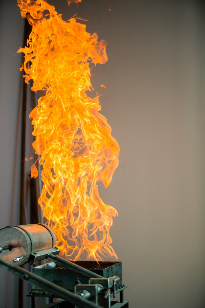 Photo of fire burning in the Hibachi