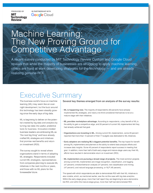 Machine Learning: The New Proving Ground for Competitive