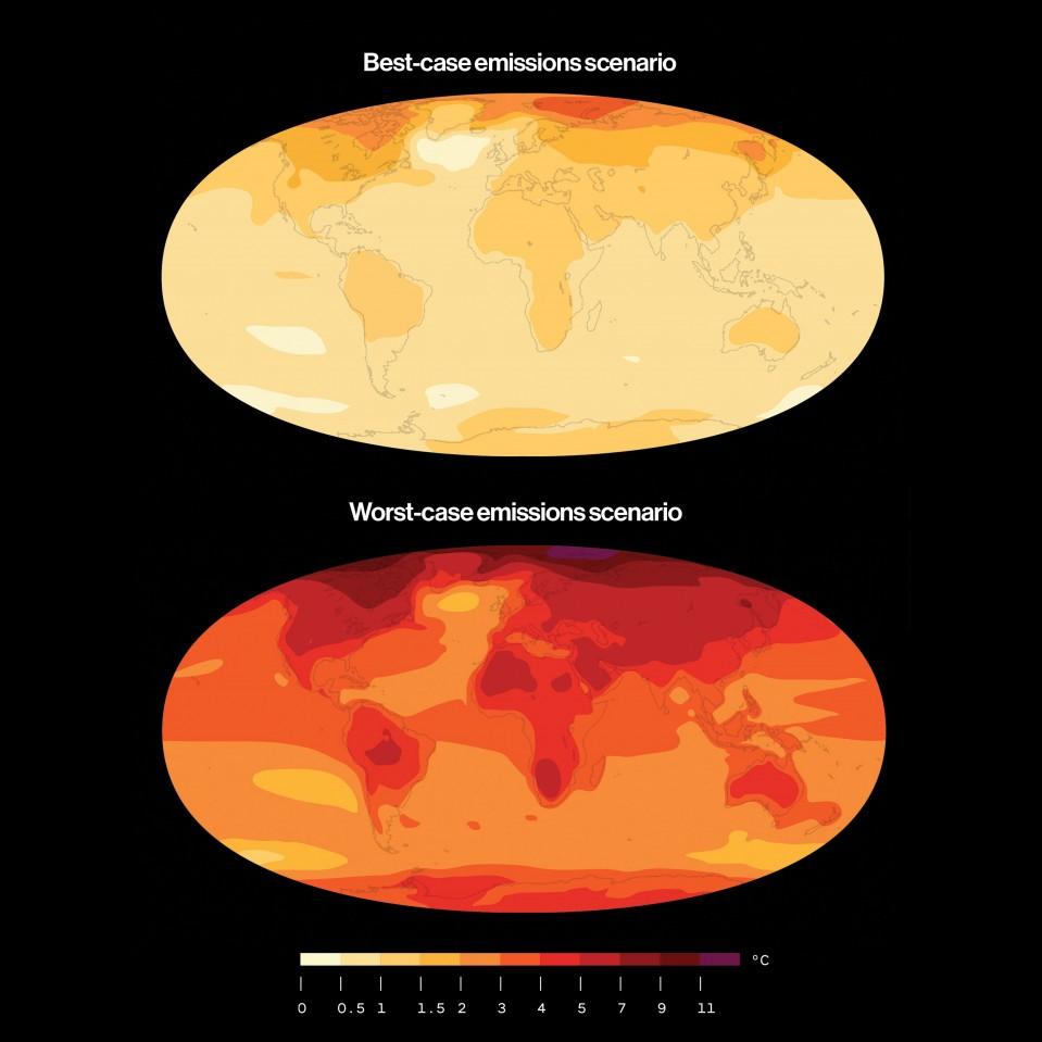 Heat maps of earth