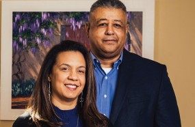 A photo of Heather '89 and Maurice Cogdell