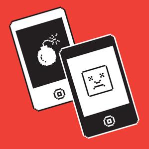smartphones with error messages