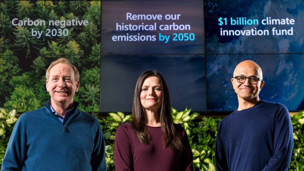 Microsoft will invest  billion into carbon reduction and removal technologies