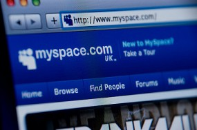 MySpace's website