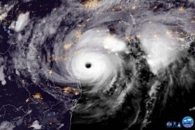 Satellite capture of Hurricane Harvey