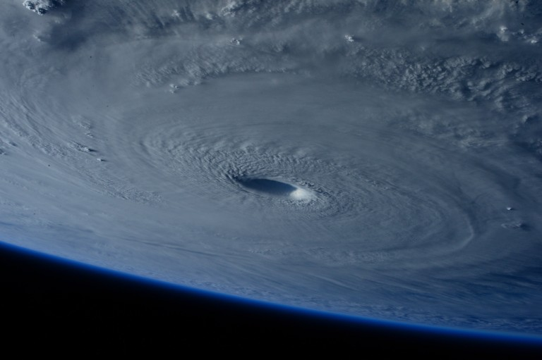 A tropical cyclone, seen from orbit