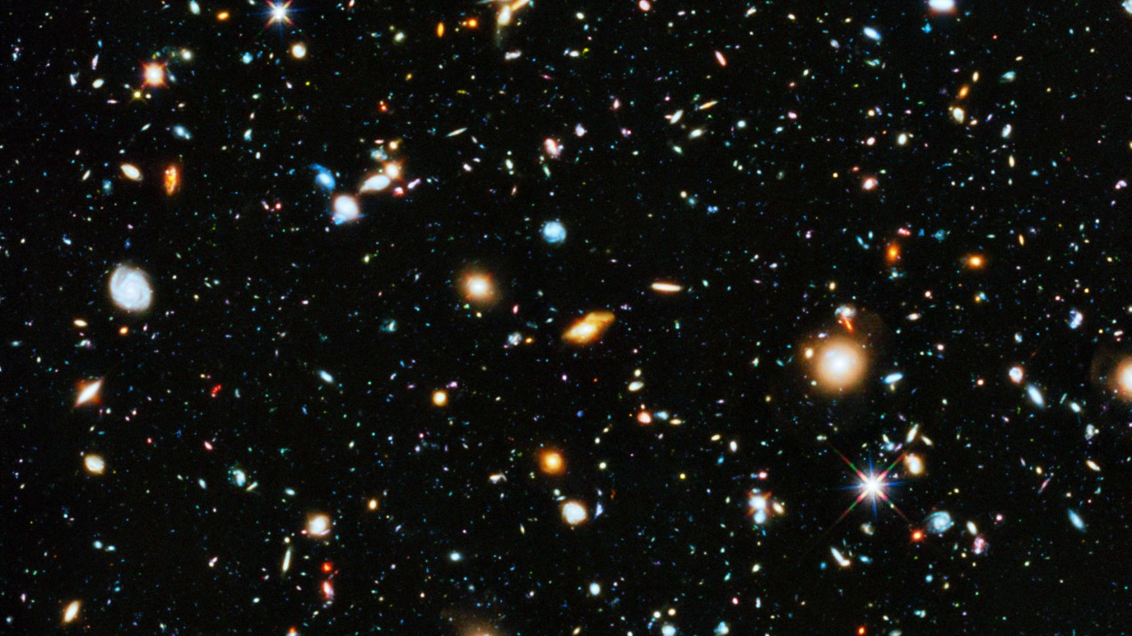 Colorful View of Universe Captured by Space Telescope
