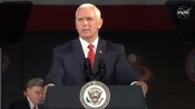Image of Mike Pence at podium.