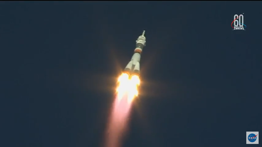 The Soyuz as it took off