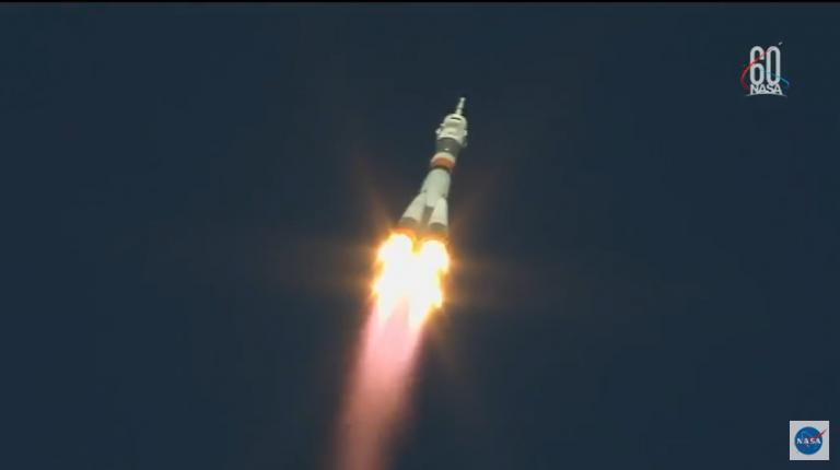 The Soyuz as it took off
