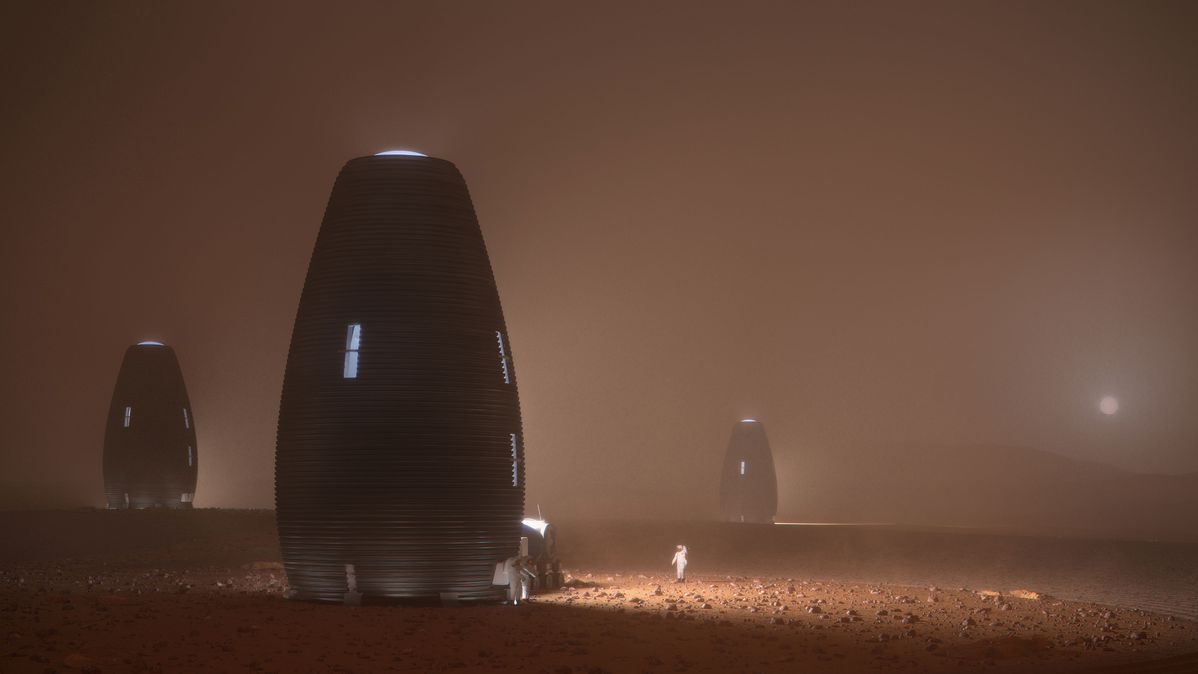 This 3D-printed beehive could be our future home on Mars