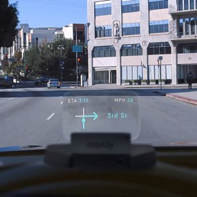 Navdy, a heads-up display for the car
