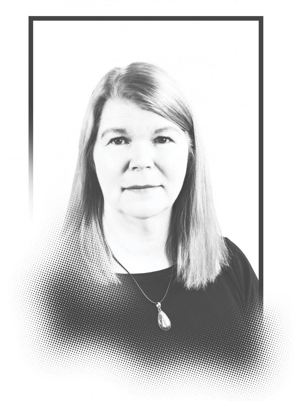 Photo illustration of Janet Conrad