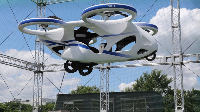 NEC's flying car