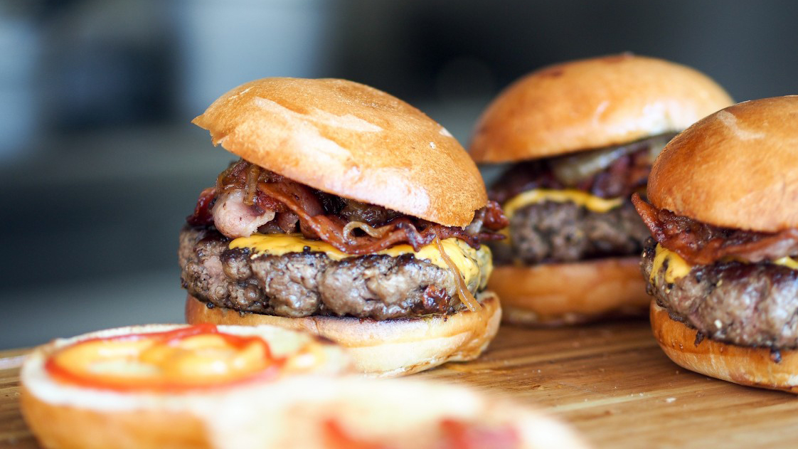 photo of a few very tasty looking burgers
