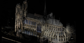 A 3D scan of Notre Dame cathedral