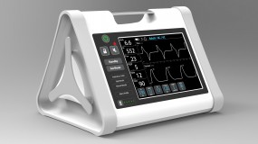 A rendering of One Breath's ventilator.