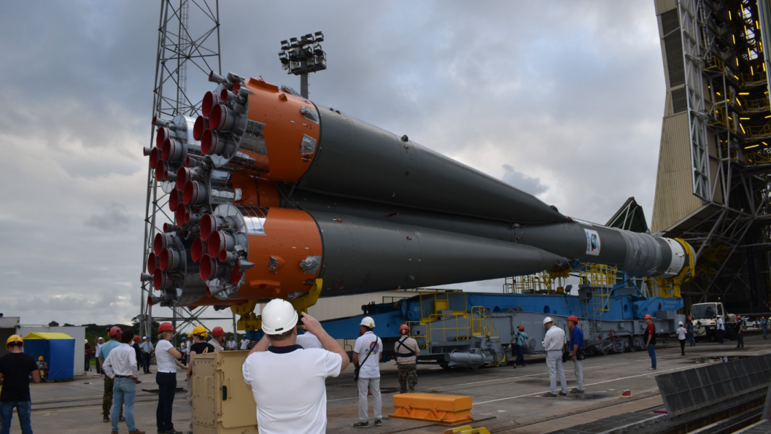 Image of the rocket on which OneWeb's satellites will launch