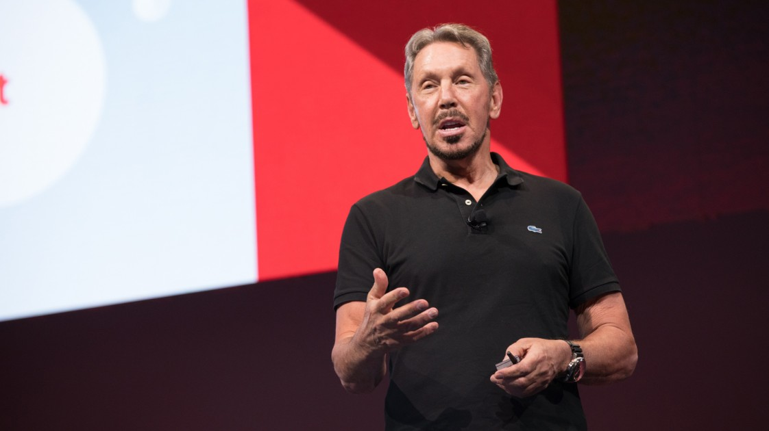 Oracle CEO Larry Ellison sees a future without human error–or labor.