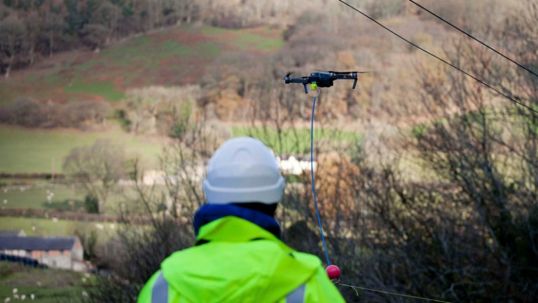 Internet-delivering drones in Wales.