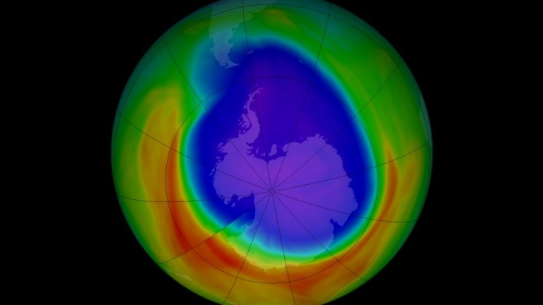 ozone hole over Antarctica