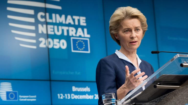 Ursula von der Leyen, president of the European Commission.