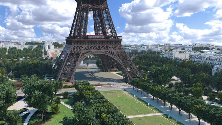 3D model of Eiffel tower