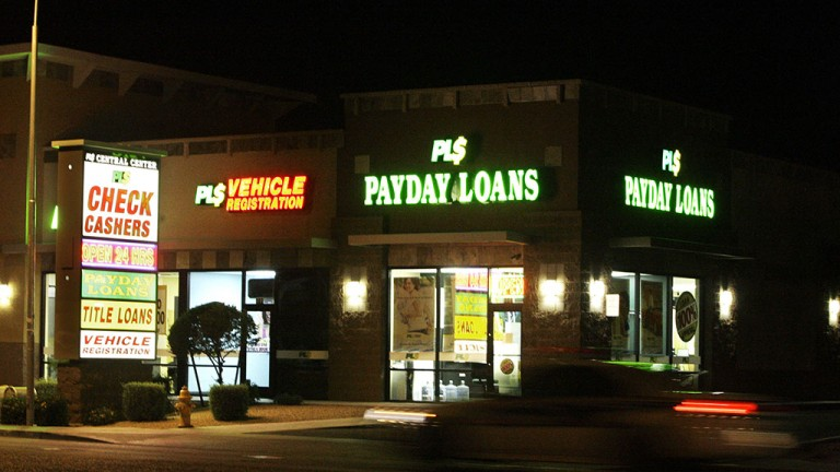 A payday lending service
