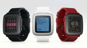 rendering of three Pebble watches