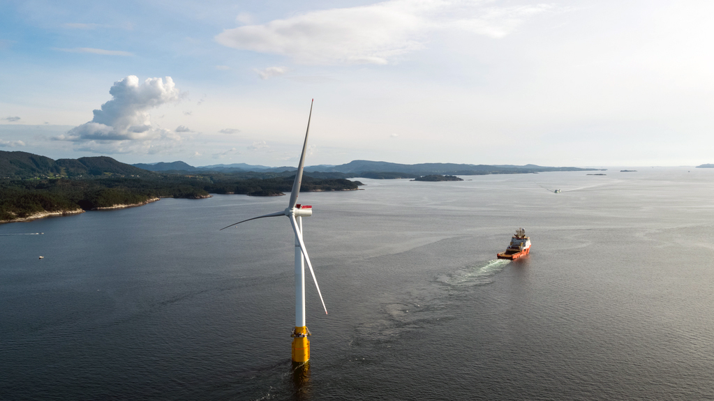 Floating wind turbines are slowly taking to the seas.