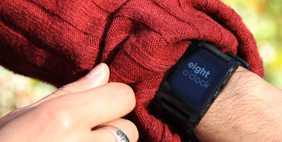 Smart Watch: The Pebble watch got started thanks to crowd-funding (Credit: Pebble)