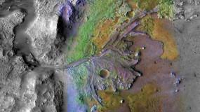 Jezero crater on Mars