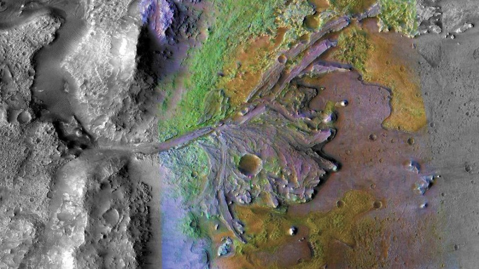 Jezero crater on Mars