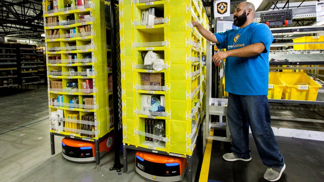 Amazon fulfillment worker